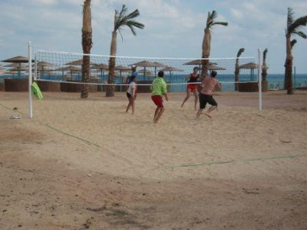 The Three Corners Sunny Beach Resort. Volly Ball in the Beach
