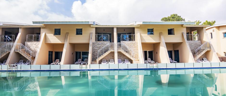 Family Pool House Upper Floor